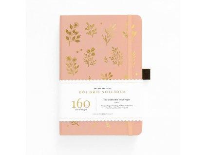 Zápisník Archer & Olive A5, 160 stran Vernal