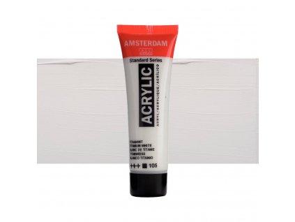 Akrylová barva Amsterdam 120 ml zinc white