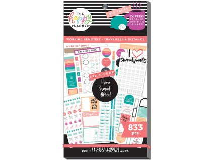 Samolepky Happy Planner Value Pack Work From Home