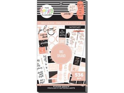 Samolepky Happy Planner BIG Value Pack Bold Blush