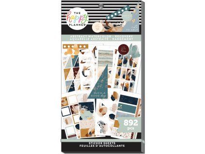 Samolepky Happy Planner Value Pack Abstract Watercolor