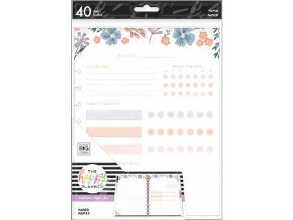 Poznámkové listy Happy Planner BIG Florals