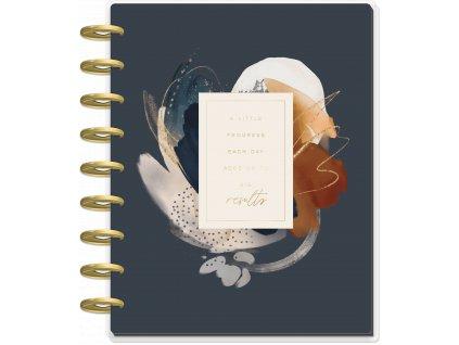 Motivační zápisník Happy Planner CLASSIC Abstract Watercolor
