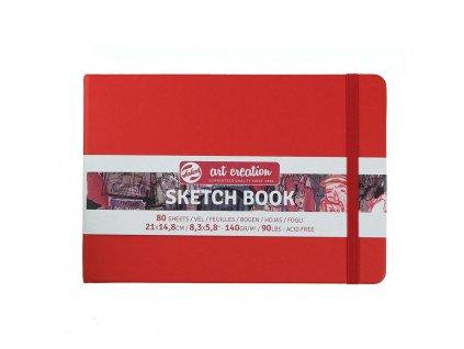 Skicák Art Creation červený, 140 gm2, 80 stran 21 x 14,8 cm