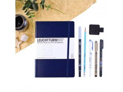 Bullet Journal plánovací set - modrý