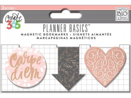 Magnetické záložky Happy Planner - Rose Gold
