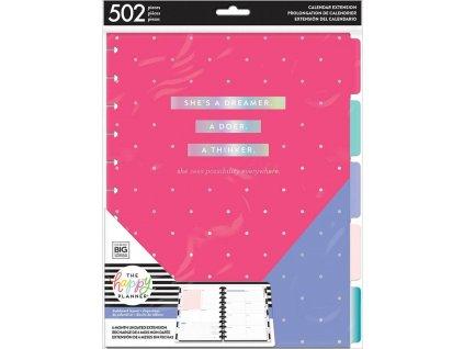 Nedatovaná náplň do diáře Happy Planner BIG - Dashboard Layout