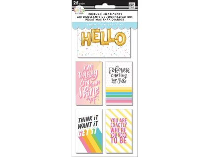 Samolepky Happy Planner Journaling - Quotes