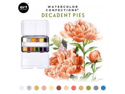 Akvarelové barvy Art Philosophy - Decadent Pies, sada 12 ks