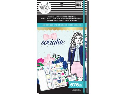 Samolepky + bločky Happy Planner Accessory Book - Socialite