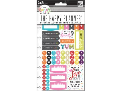 Samolepky Happy Planner - What's for Dinner