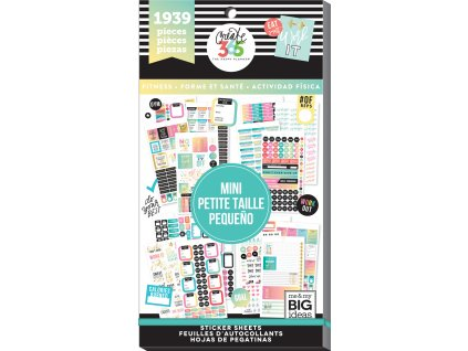 Samolepky Happy Planner MINI Value Pack - Work it Out