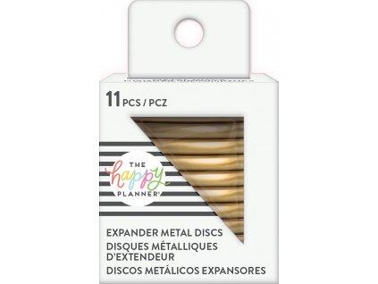 Spojovací kovové disky do diáře Happy Planner 4,4 cm - Gold