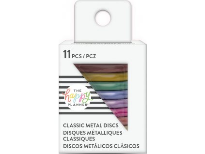 Spojovací kovové disky do diáře Happy Planner 3,2 cm - Rainbow