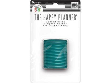 Spojovací disky do diáře Happy Planner 3,2 cm - Translucent teal
