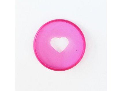 Spojovací disky do diáře Happy Planner 3,2 cm - Translucent pink