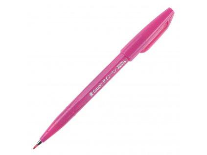 pentel brush Sign Pen růžová