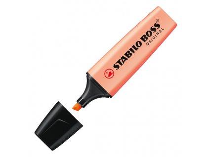 zvýrazňovač stabilo boss pastel oranžová