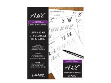 Cvičné listy na krasopis Brea Reese velká písmena