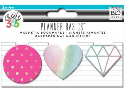 Magnetické záložky Happy Planner - Neon