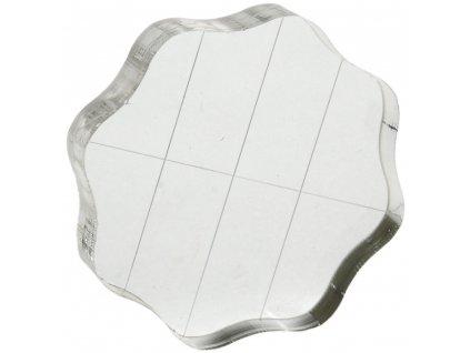 Akrylátový bloček pro silikonová razítka 6,35 x 6,35 cm
