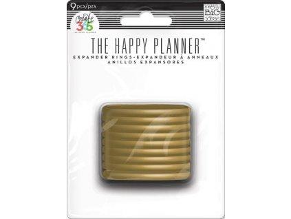 Spojovací disky do diáře Happy Planner 4,4 cm - Gold