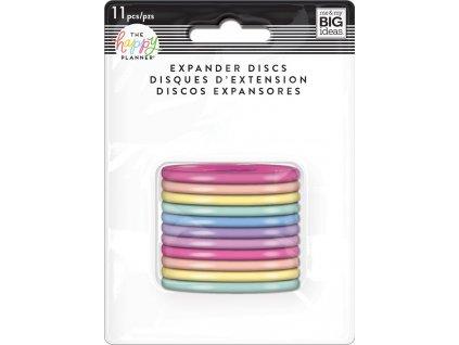 Spojovací disky do diáře Happy Planner 4,4 cm - Pastel Rainbow
