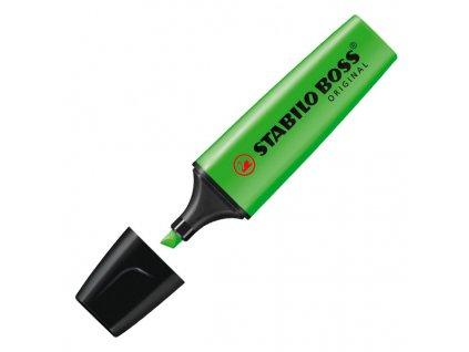 zvýrazňovač stabilo boss zelený