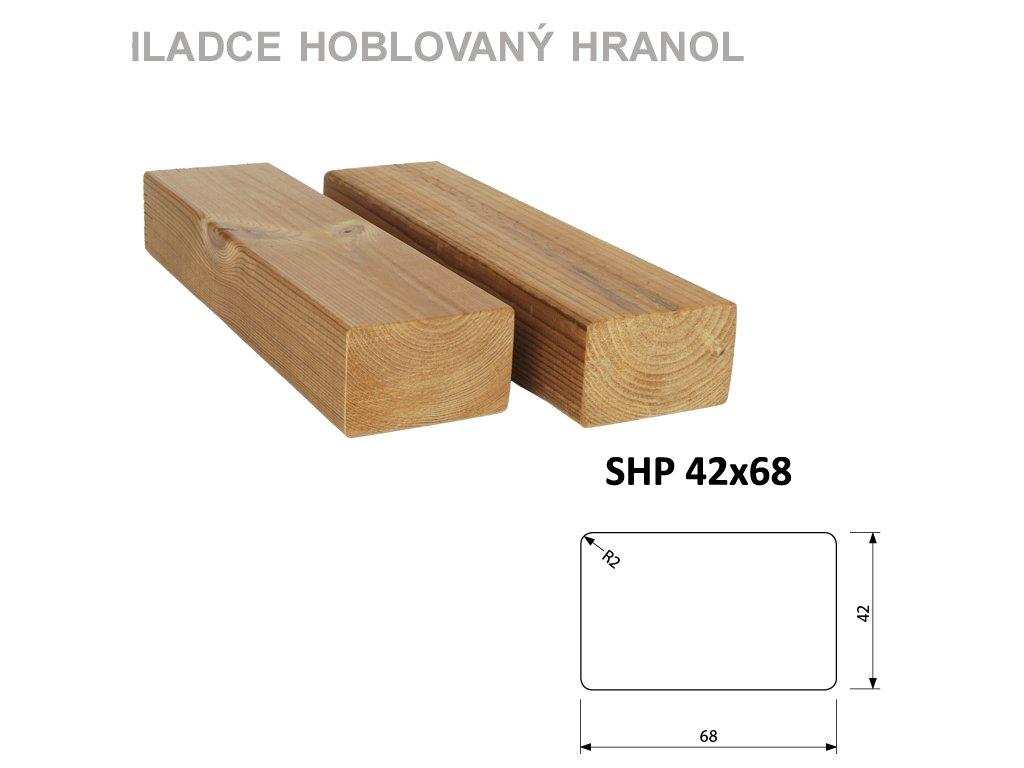 Lunawood- podkladní hranol 42*68-délky 3 a 4,2 bm