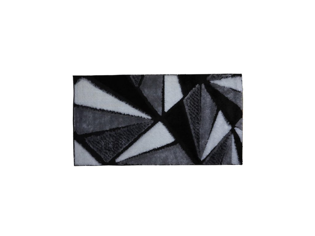 Friese  P073 Shaggy loop de luxe, 190X285, GREY, tojúhelníky černé, šedé a bílé