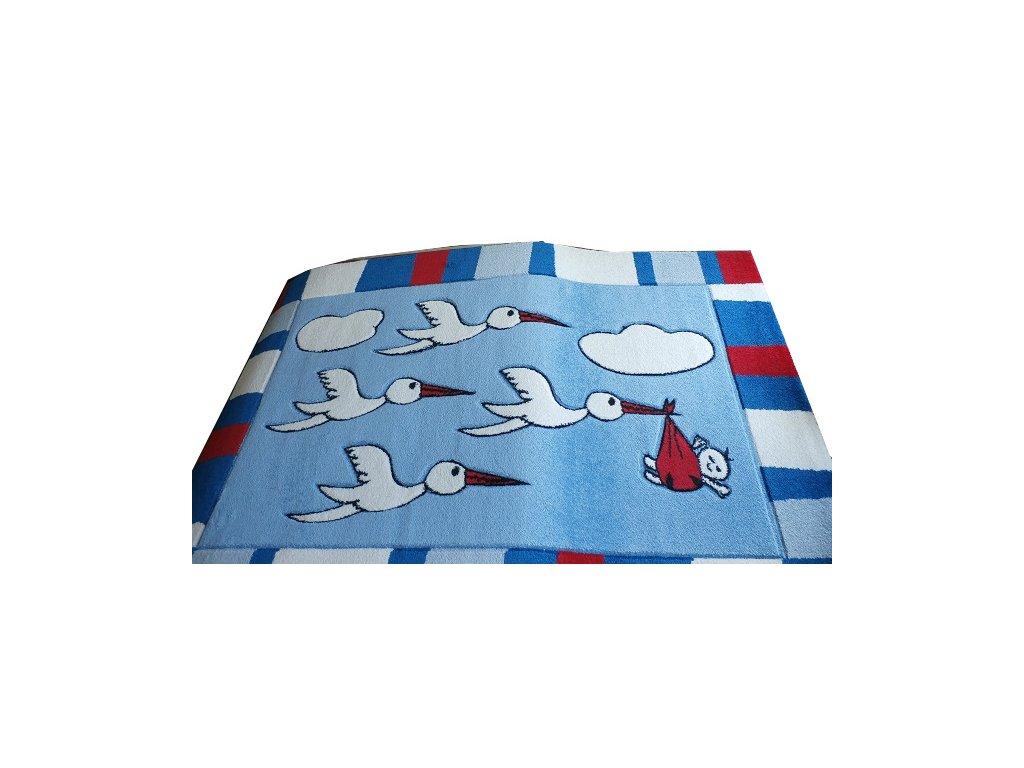 TOYS- dětský kusový koberec, 120 x 170cm, modří čápi