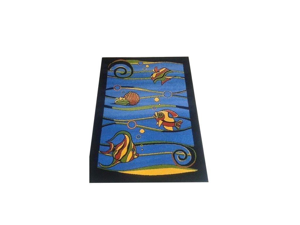 Rybky Modré -dětský kusový koberec