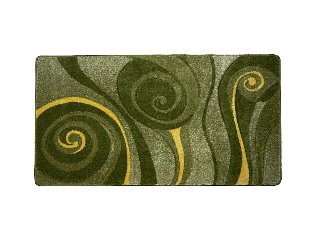 Friese 7095YY, 120X170, zeleno-žlutá paví péra
