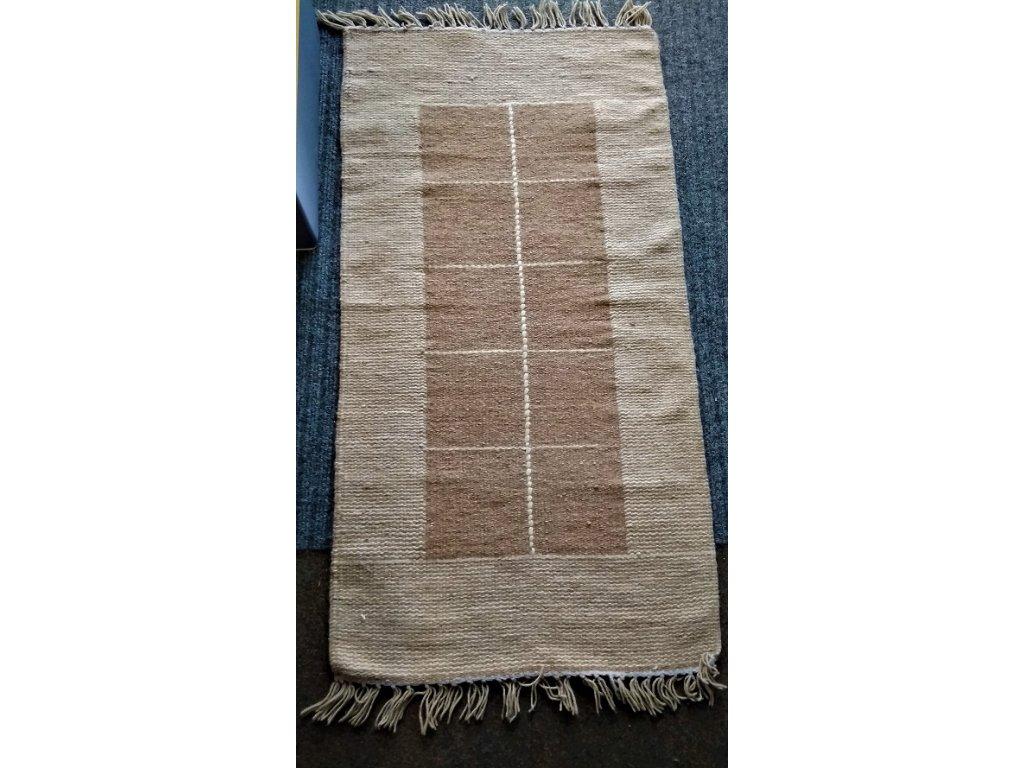 KELIM - vlněný ručně tkaný koberec, 70x140  - VÝPRODEJ