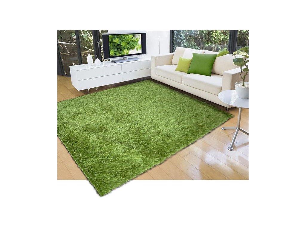 LILOU 160 x 230 cm, barva GREEN zelená, výška vlasu 35mm - doprodej