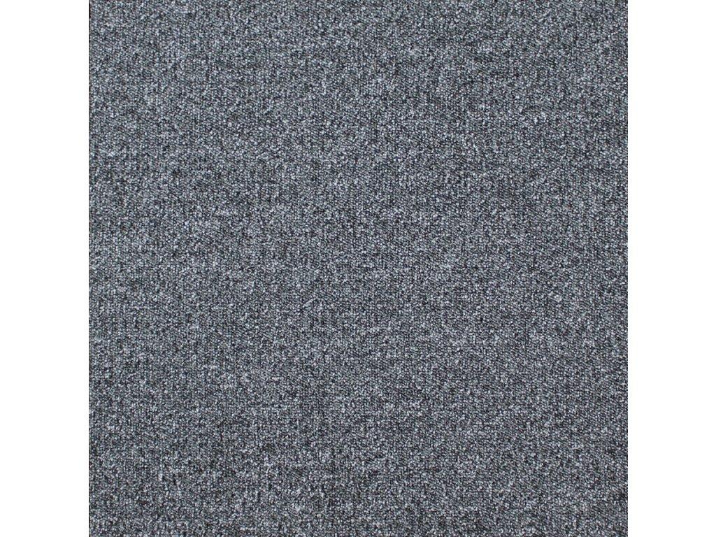 BEST-kobercové čtverce, 100%PA, 50x50cm, třída zát.33, barva 73  tmavě šedá, nehoř. Bfl-s1
