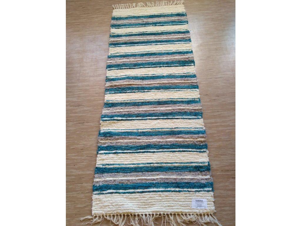 KOBERKA - ručně tkaný koberec, 60x150cm - skladem 1 ks