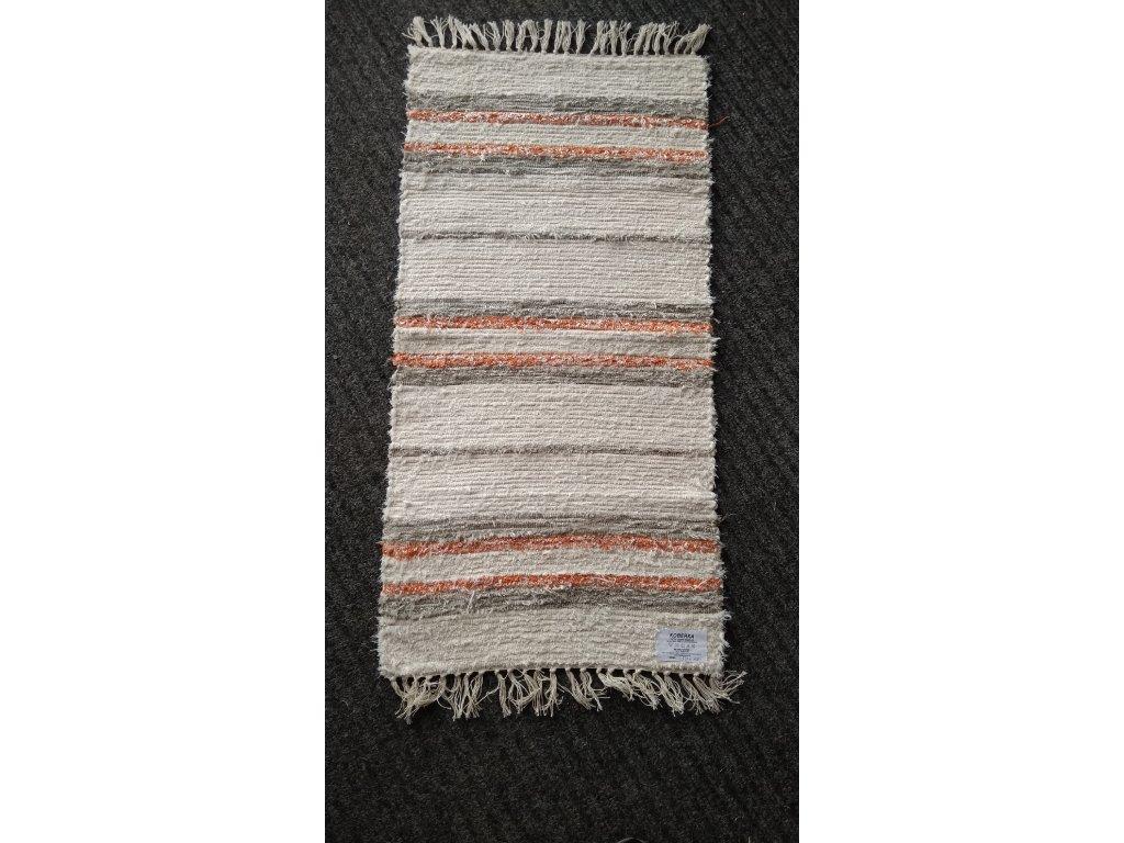 KOBERKA - ručně tkaný koberec, 50x100cm  - skladem 1 ks