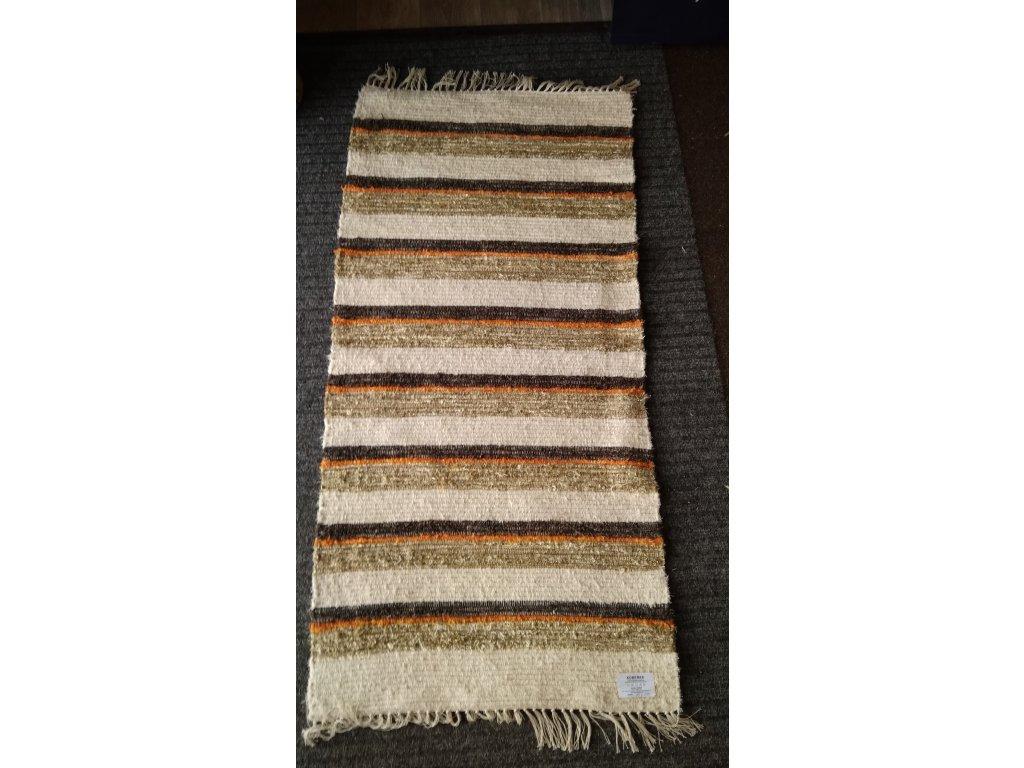 KOBERKA - ručně tkaný koberec, 70x150 - skladem 1 ks