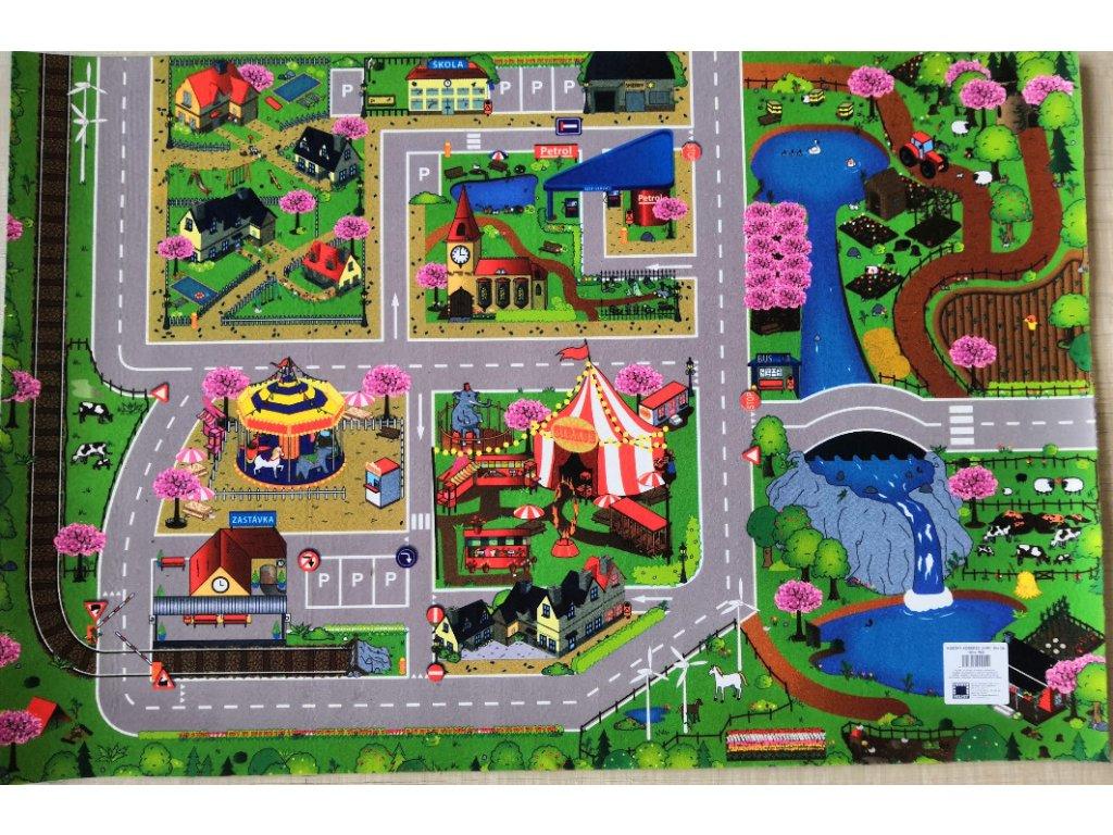 Dětský koberec Cesty - Jaro 120x80