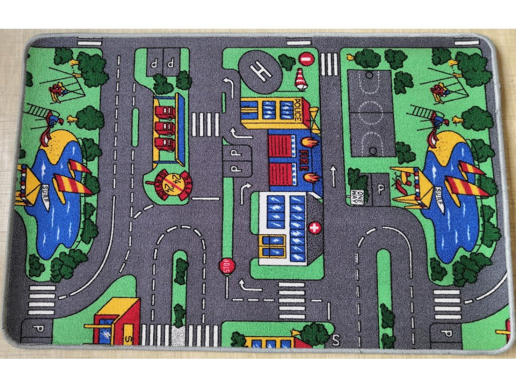 Dětský koberec Parkoviště  120x80
