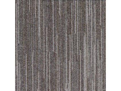 Kobercové čtverce LINES  100% PA, zátěž 33, Blf, 50*50cm; 03 DARK BROWN