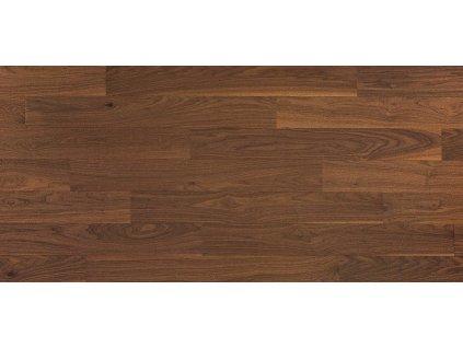 Třívrstvá dřevěná podlaha Ořech kouřený kartáč, 2V, II jakost, lak