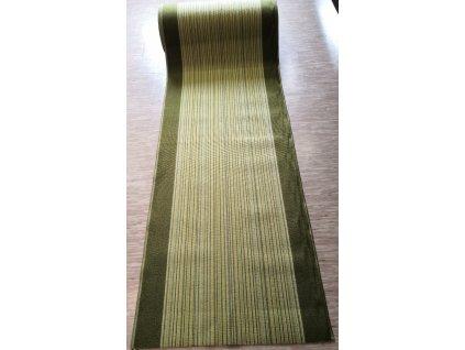 Běhoun Pruhy, zelený 80cm, guma