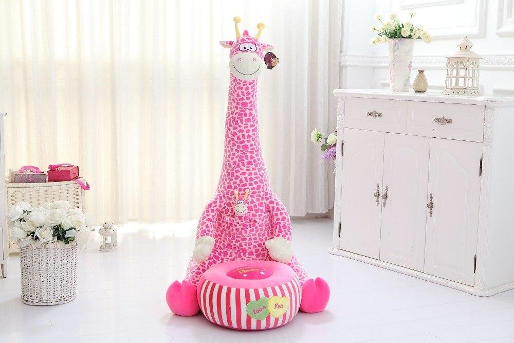 new-creative-plush-pink-giraffe-tatami-toy-big-cartoon-giraffe-sofa-doll-children-s-sofa-gift
