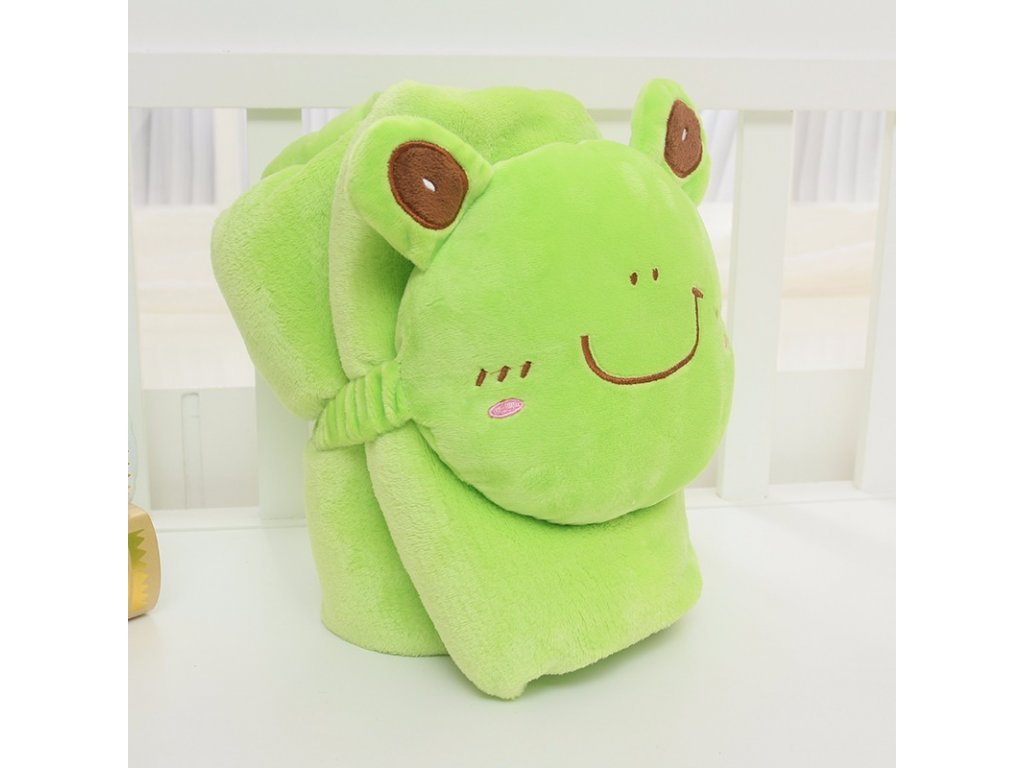 Rozprávková deka - žaba