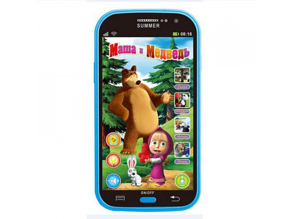 Baby Mobile Phone Toy Masha And Bear Russian Language Kids Children Electronic Music Toys Cellphone Telephone