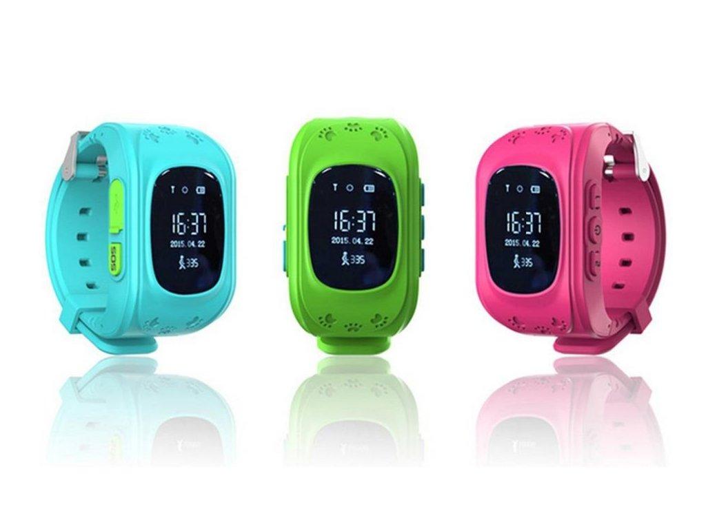 c80c087fb GPS hodinky pre deti Q50 - SET 3 kusy - Za facku