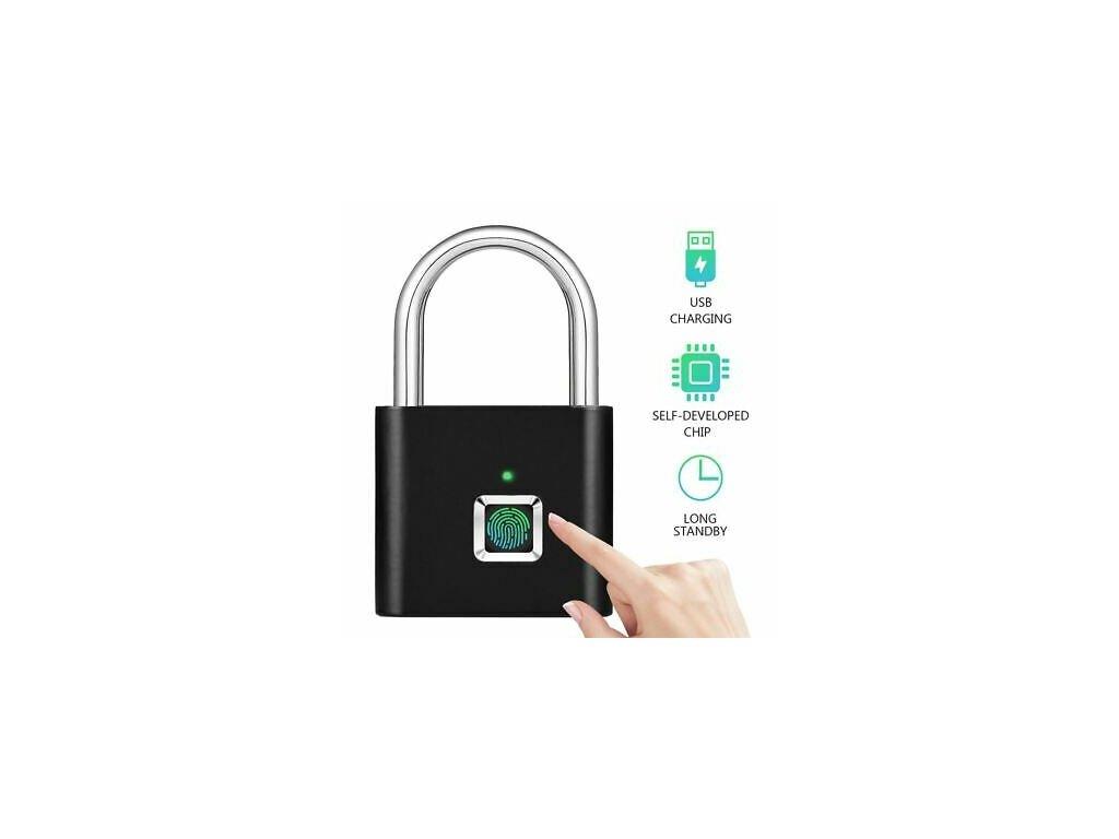 USB Rechargeable Smart Keyless Electronic Fingerprint Lock Home