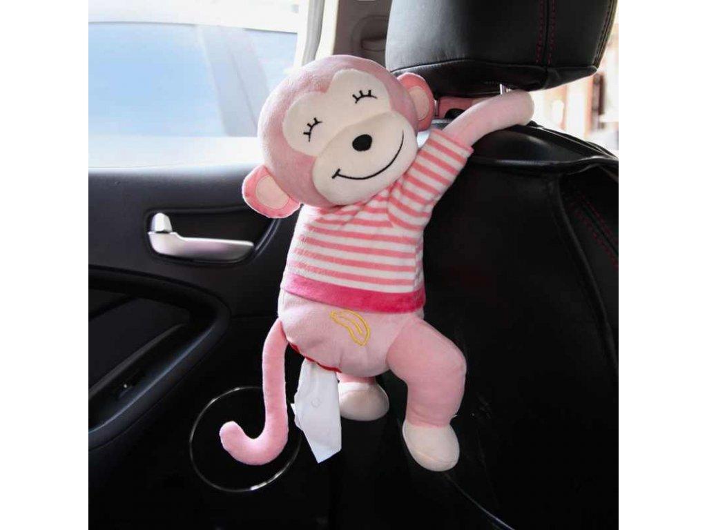 Creative Tissue Box Cute Monkey Paper Napkin Case Cute Cartoon Animals Car Paper Boxes Wall Car.jpg q50